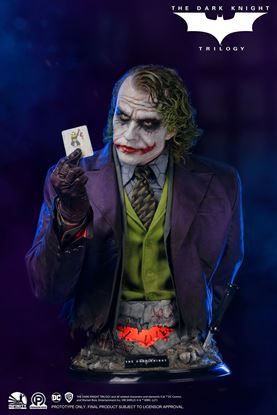 """Picture of Infinity Studio X Penguin Toys: DC-""""The Dark Knight"""" The Joker Life Size  Bust"""